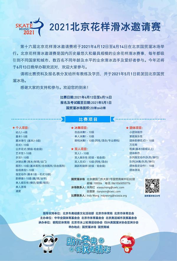 Skate Beijing 2021 Poster