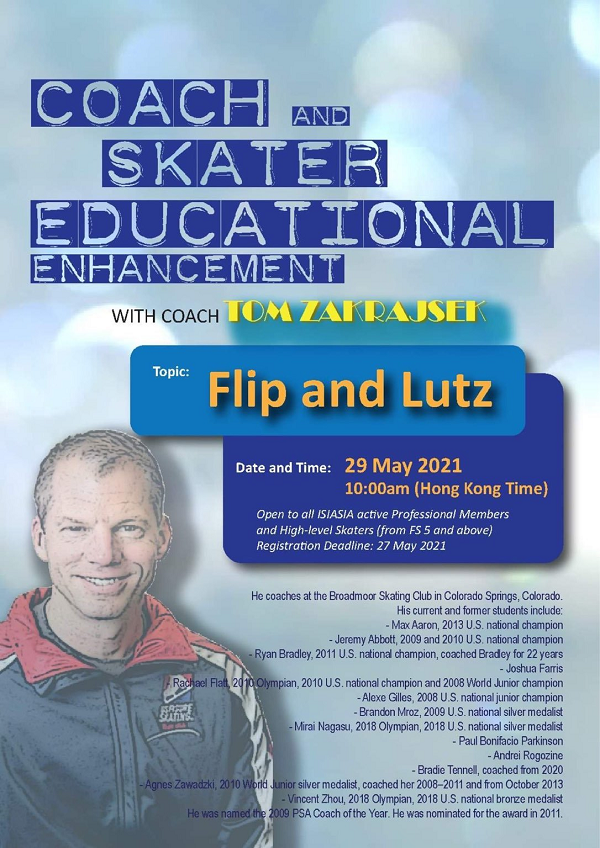 ISIAsia Workshop - Coach and Skater Educational Enhancement Poster