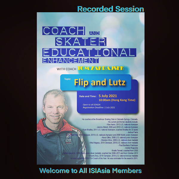ISIAsia Workshop - Coach Educational Enhancement (Recorded Session) Poster